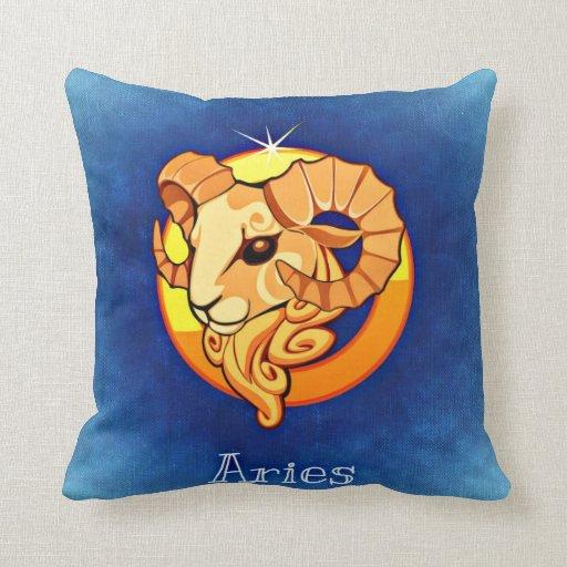 Zodiac sign Aries Throw Pillow Zazzle