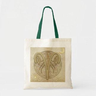 Zodiac Sign Aries Tote Bags