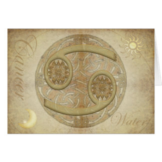 Zodiac Sign Cancer Greetings and Notecards Greeting Card