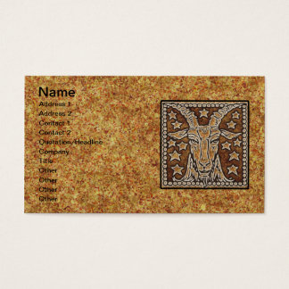ZODIAC SIGN CAPRICORN BUSINESS CARD