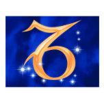 Zodiac sign Capricorn Postcards