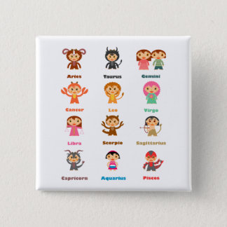 Zodiac Sign for Kids Button