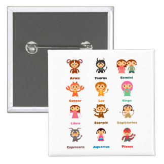 Zodiac Sign for Kids Pinback Buttons