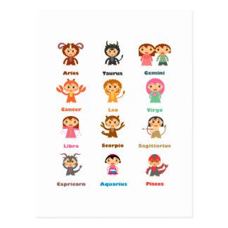 Zodiac Sign for Kids Postcard