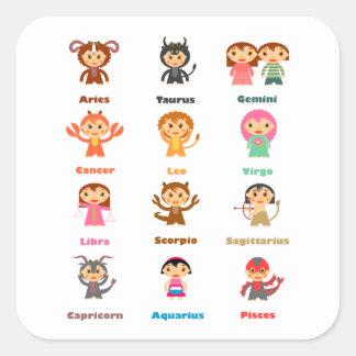 Zodiac Sign for Kids Square Sticker
