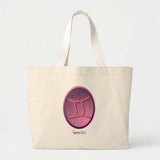 Zodiac sign Gemini Tote Bags