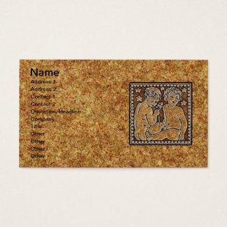 ZODIAC SIGN GEMINI BUSINESS CARD