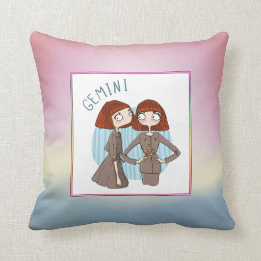 zodiac sign gemini may 21 june 20 throw pillow zazzle. Black Bedroom Furniture Sets. Home Design Ideas