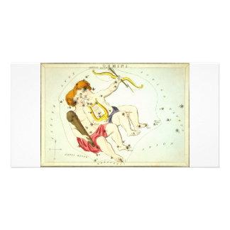 Zodiac Sign: Gemini Photo Greeting Card