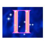 Zodiac sign Gemini Postcards