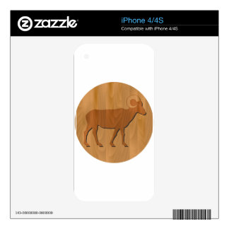 zodiac sign - Goat Year iPhone 4S Skins