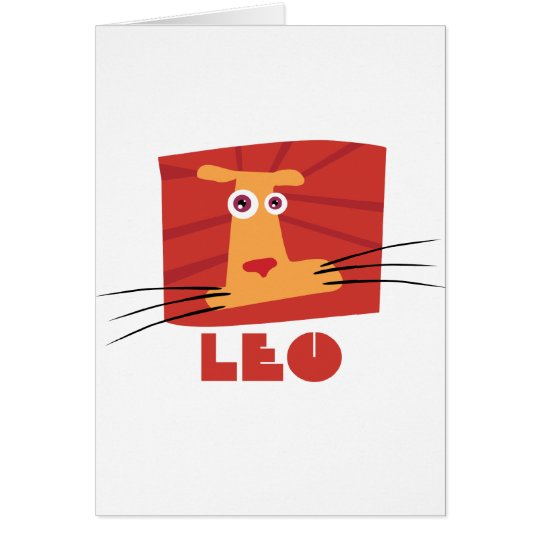 Zodiac Sign Leo Card