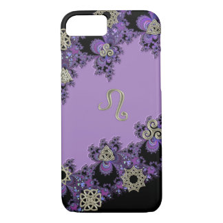 Zodiac Sign Leo Celtic Lavender iPhone 7 Case