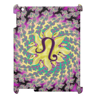 Zodiac Sign Leo Fractal Mandala Case For The iPad 2 3 4