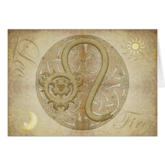 Zodiac Sign Leo Greetings and Notecards Greeting Card