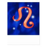 Zodiac sign Leo Postcards