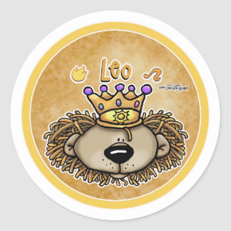 Zodiac Sign - Leo The Lion - July & August Classic Round Sticker
