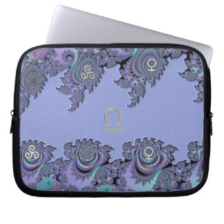Zodiac Sign Libra Fractal Design Laptop Sleeve