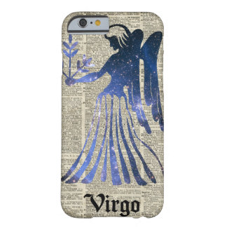 Zodiac Sign of Maiden Virgo Over An Old Book Page Barely There iPhone 6 Case