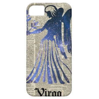 Zodiac Sign of Maiden Virgo Over An Old Book Page iPhone SE/5/5s Case