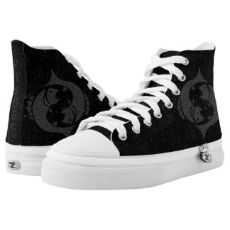 Zodiac sign Pisces High-Top Sneakers