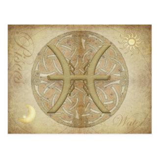 Zodiac Sign Pisces Postcard