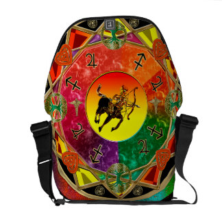 Zodiac Sign Sagittarius Mandala Messenger Bag