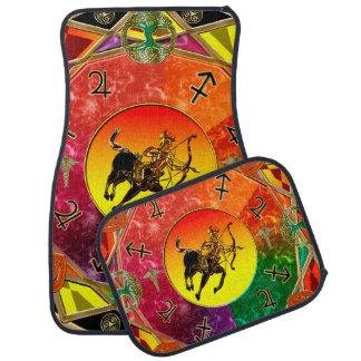 Zodiac Sign Sagittarius Mandala Car Mat