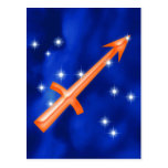Zodiac sign Sagittarius Post Cards