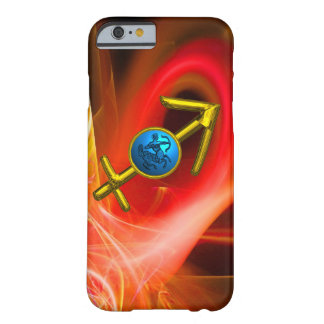 ZODIAC SIGN SAGITTARIUS,Red Yellow Fractal Swirls Barely There iPhone 6 Case