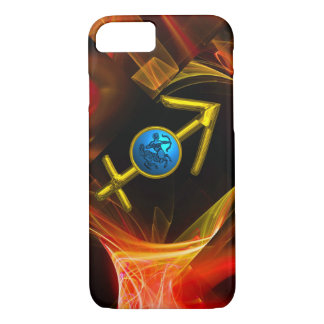 ZODIAC SIGN SAGITTARIUS,Red Yellow Fractal Swirls iPhone 7 Case