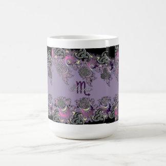 Zodiac Sign Scorpio Mystic Fractal Cup Classic White Coffee Mug