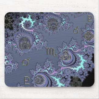 Zodiac Sign Scorpio Mystical Symbols Mouse Pad