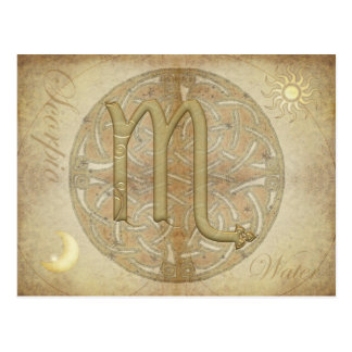 Zodiac Sign Scorpio Postcard