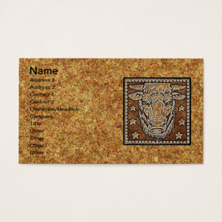 ZODIAC SIGN TAURUS BUSINESS CARD