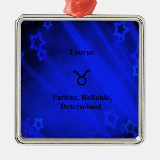 Zodiac Sign: Taurus Metal Ornament