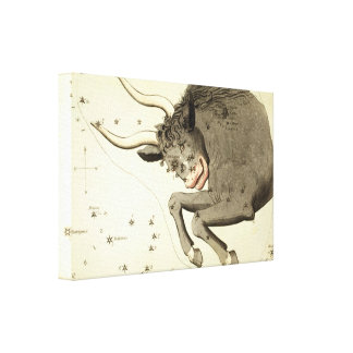 """Zodiac Sign: Taurus"" wrapped canvas print"