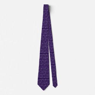 Zodiac Sign Tie(Purple) Neck Tie