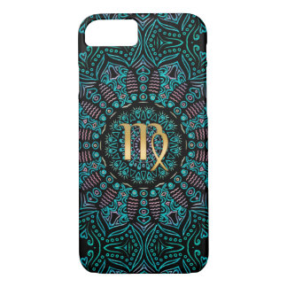 Zodiac Sign Virgo Green Mandala iPhone 8/7 Case