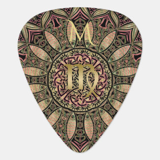 Zodiac Sign Virgo Mandala Earth Tones Guitar Pick