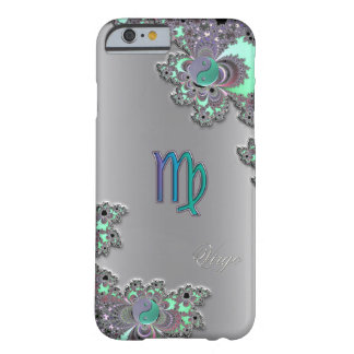 Zodiac Sign Virgo Silver Fractal iPhone 6 Case