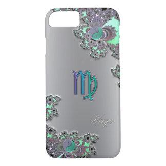 Zodiac Sign Virgo Silver Fractal iPhone 7 Case