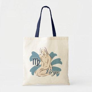 Zodiac Sign Virgo Symbol Tote Bag