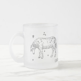 zodiac-signs-1, Adventurous and energeticPionee... 10 Oz Frosted Glass Coffee Mug