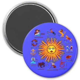 Zodiac-Signs-All-V-1 3 Inch Round Magnet