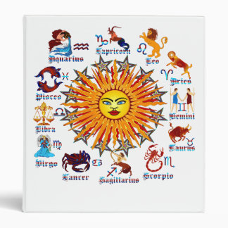 Zodiac-Signs-All-V-1 3 Ring Binder