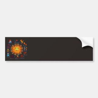 Zodiac-Signs-All-V-1 Bumper Sticker