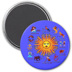 Zodiac-signs-all-v-1 Magnet at Zazzle