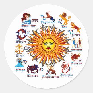 Zodiac-Signs-All-V-1 Etiqueta Redonda