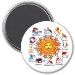 Zodiac-Signs-All-V-1 Refrigerator Magnets